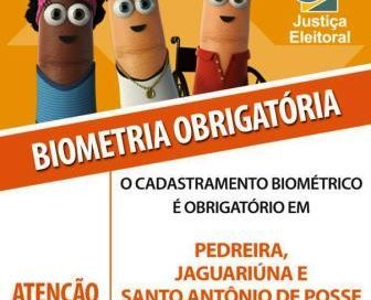 Biometria é obrigatória e teve início hoje (4) para eleitores de Pedreira, Jaguariúna e Santo Antônio de Posse