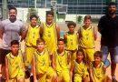 Equipe de basquete sub 12 de Jaguariúna em quadra neste sábado, 17