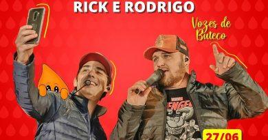 Dupla Rick e Rodrigo promove live neste sábado, 27